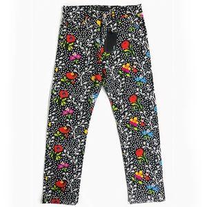 VERSACE Men's Floral Print Jeans - NWT